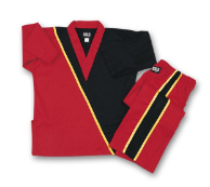 8 oz V-Neck Team Uniform - Red with Black & Gold