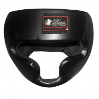 Leather MMA Headgear - Black