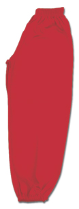 Red Middleweight Kung Fu Pants With Elastic Cuffs