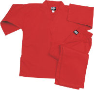 8.5 oz V-Neck Martial Arts Uniform - Red