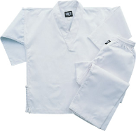 8.5 oz V-Neck Martial Arts Uniform - White