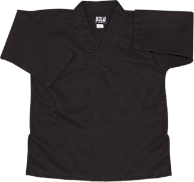 8.5 oz V-Neck Martial Arts Top - Black