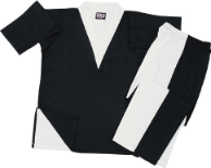 8 oz V-Neck Team Uniform - Black and White