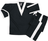 8 oz V-Neck Team Uniform - Black with White