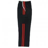 Martial Arts Cargo Pants - Black With Red Stripes
