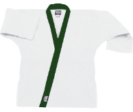 8.5 oz Super-Middleweight Karate Jacket - White with Forest Green
