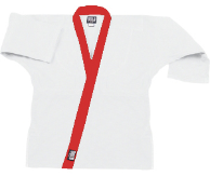 8.5 oz Super-Middleweight Karate Jacket - White with Red