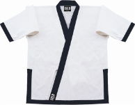 8.5 oz Super-Middleweight Karate Jacket - White with Navy