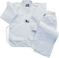 6 oz Lightweight Tae Kwon Do Uniform - White