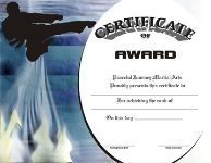 Martial Arts Rank Certificate - Pack of 10