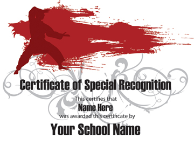 Certificate of Special Recognition - Pack of 10