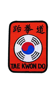 Tae Kwon Do Korea Patch - 5 Pack