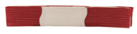 2 Inch Deluxe Panel Belt - Red and White