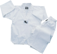7.5 oz Middleweight Tae Kwon Do Uniform - White