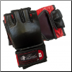 Leather MMA Fight Gloves w/o Thumb - Black/Red (SKU: 105-BR)