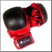 Artificial Leather MMA Training Gloves - Red/Black