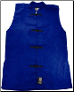 Sleeveless Kung Fu Jacket - Blue with Black Frogs (SKU: 1100-BLB)