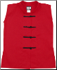 Sleeveless Kung Fu Jacket - Red with Black Frogs (SKU: 1100-RB)
