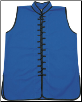 Sleeveless Kung Fu Jacket - Blue with Black Laces (SKU: 1110-BLB)