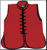 Sleeveless Kung Fu Jacket - Red with Black Laces (SKU: 1110-RB)
