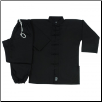 8 oz Middleweight Kung Fu Uniform - Black (SKU: 1350)