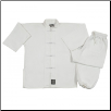 8 oz Middleweight Kung Fu Uniform - White (SKU: 1380)