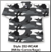 8.5 oz V-Neck Martial Arts Top - White Camouflage (SKU: 202-WCAM)