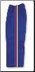8 oz Middleweight Karate Pants - Blue with Red, White & Blue Stripes (SKU: 218-BL)