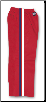 8 oz Middleweight Karate Pants - Red with Red, White & Blue Stripes (SKU: 218-R)