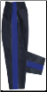 8 oz Middleweight Karate Pants - Black with Blue Stripe