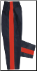 8 oz Middleweight Karate Pants - Black with Red Stripe