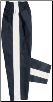 8 oz Middleweight Karate Pants - Black with White Stripe (SKU: 250-BWP)