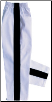 8 oz Middleweight Karate Pants - White with Black Stripe (SKU: 250-WBP)