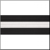 2 Inch Deluxe Black Belt with White Stripe
