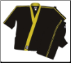 8 oz Karate Team Uniform - Black with Gold