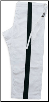 14 oz Super-Heavyweight Karate Pants - White with Black Stripe