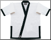 14 oz Super-Heavyweight Karate Jacket - White with Black (SKU: 525-WB)