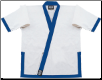14 oz Super-Heavyweight Karate Jacket - White with Navy (SKU: 525-WDN)
