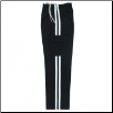 Martial Arts Cargo Pants - Black With White Stripes