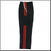 Martial Arts Cargo Pants - Black With Red Stripes (SKU: 6202-BR)