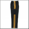 Martial Arts Cargo Pants - Black With Gold Stripes