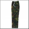 Martial Arts Cargo Pants - Camo With Black Stripes