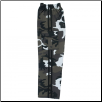 Martial Arts Cargo Pants - White Camo With Black Stripes