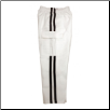 Martial Arts Cargo Pants - White With Black Stripes (SKU: 6210-WB)