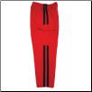 Martial Arts Cargo Pants - Red With Black Stripes