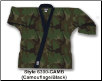 8.5 oz Super-Middleweight Karate Jacket - Camo with Black