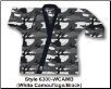 8.5 oz Super-Middleweight Karate Jacket - White Camo with Black