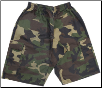 Martial Arts Cargo Shorts - Camo With Black Stripes (SKU: 780-CAMB)