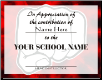 Certificate of Appreciation - Pack of 10