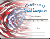 Special Recognition Certificate - Pack of 10 (SKU: CER-19)